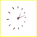 Reloj Pared XL Adhesivo Rojo 22660